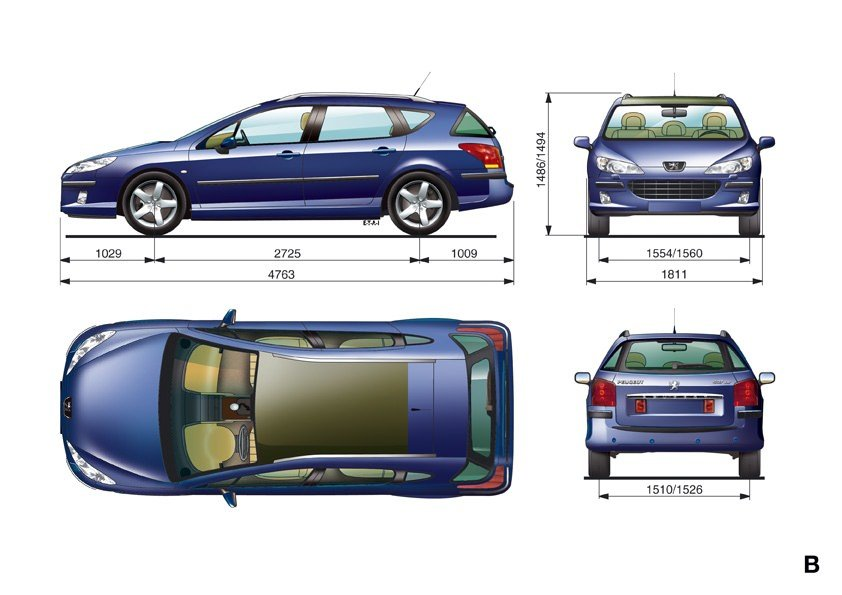 visualisation peugeot 407 sw